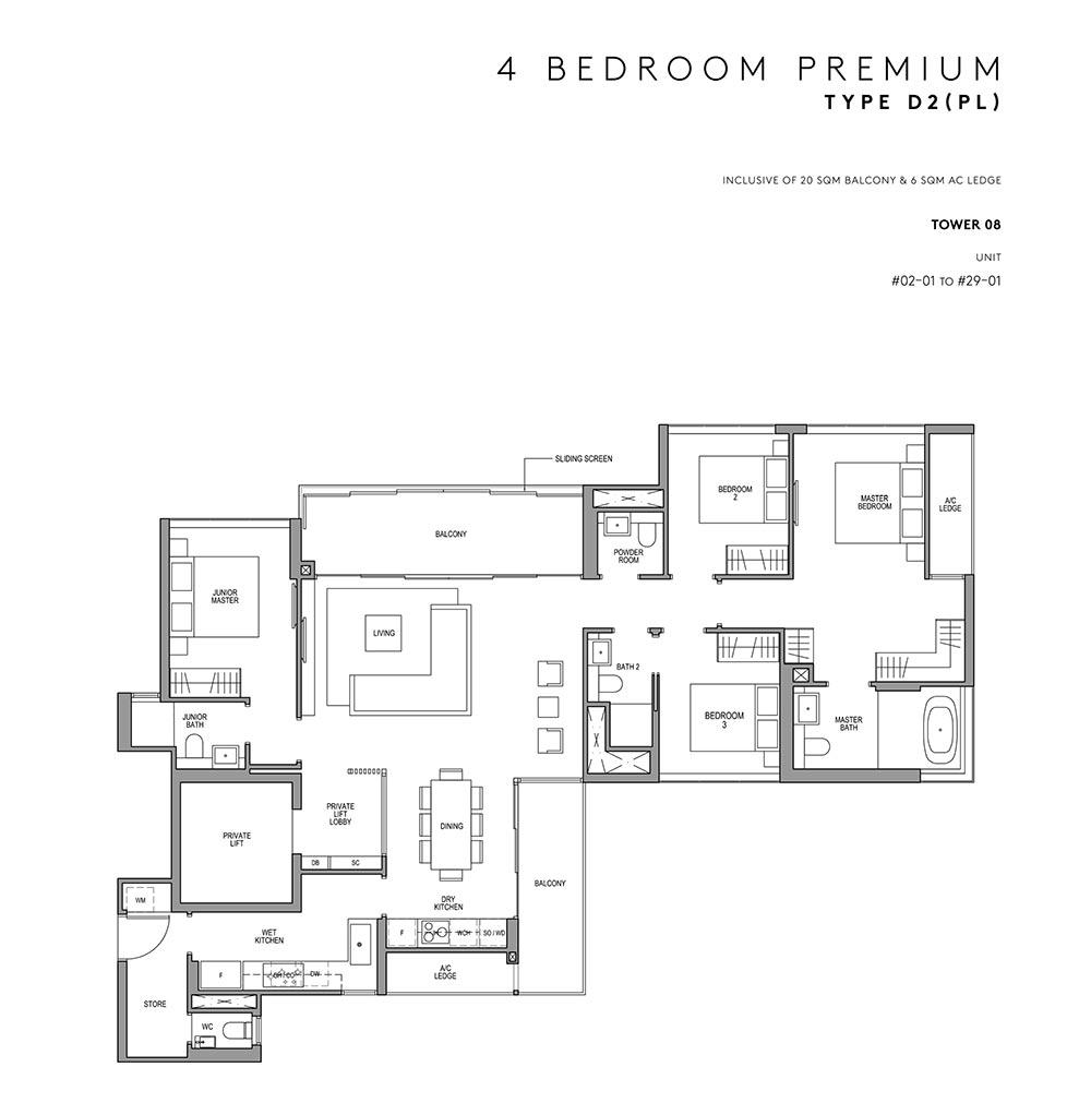 Martin Modern - 4 Bed Premium Floorplan