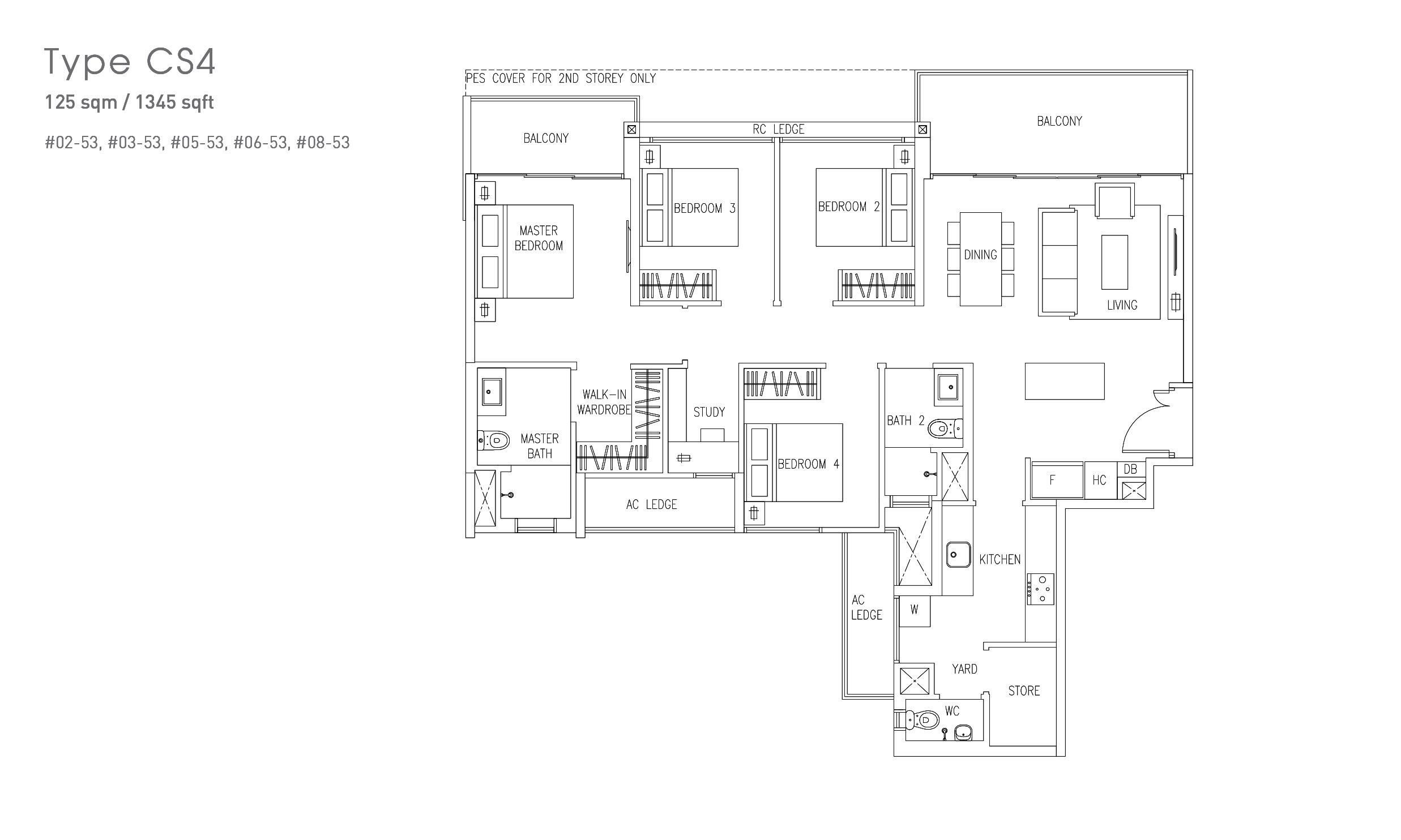 Visionaire EC - 4 bed floorplan
