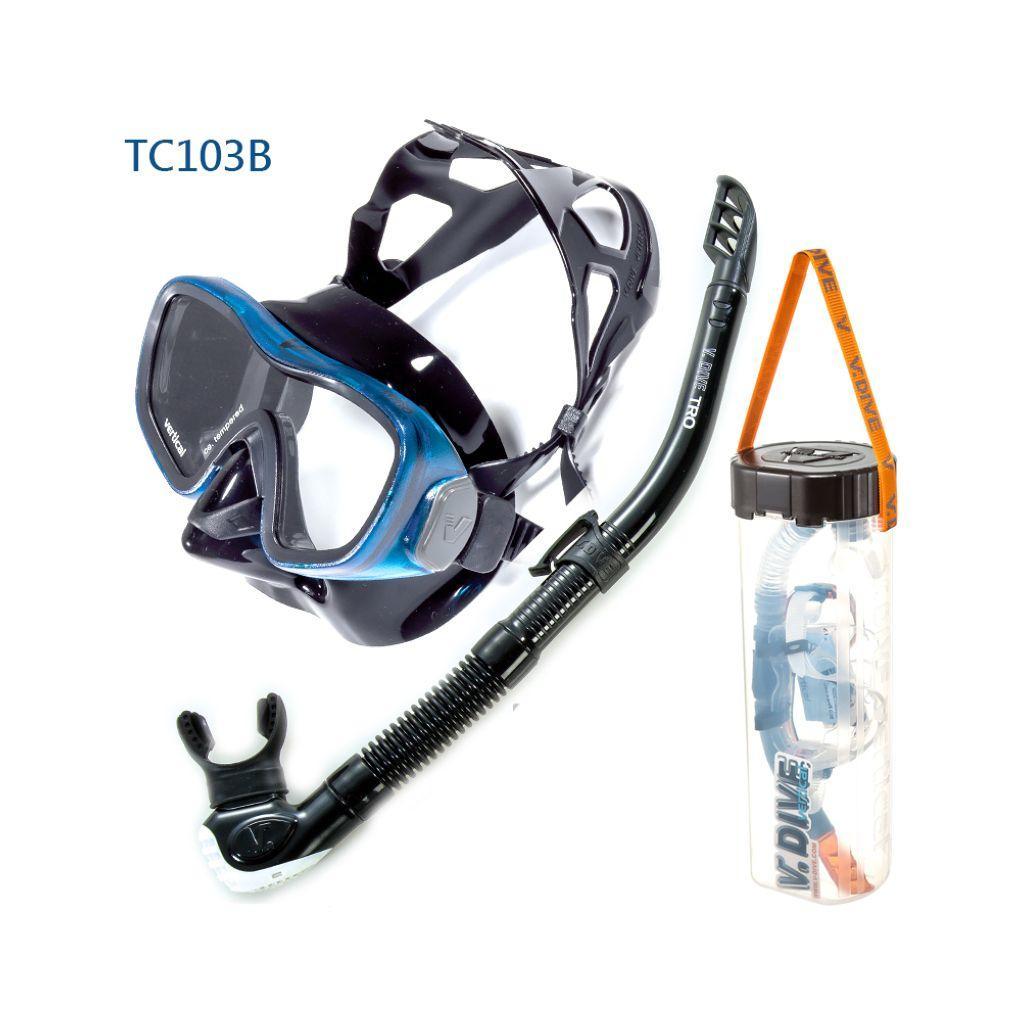 VDive TC103A/SN-06-C1 - Vitro Mask and Snorkel Set