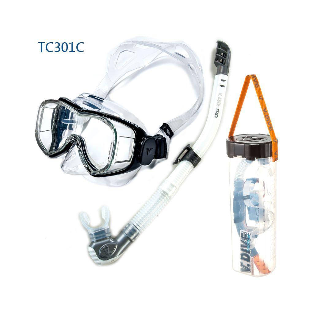 VDive TC301A/SN-06-C6 - Frame Mask and Snorkel Set
