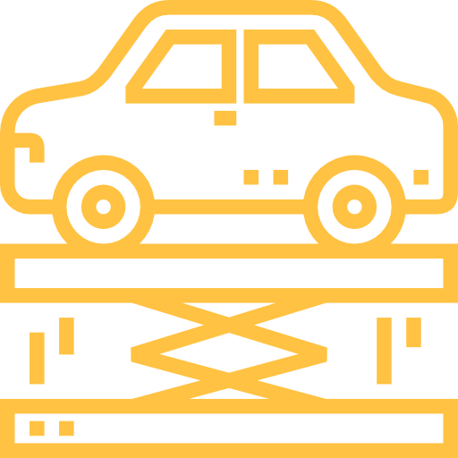 car servicing lifter icon