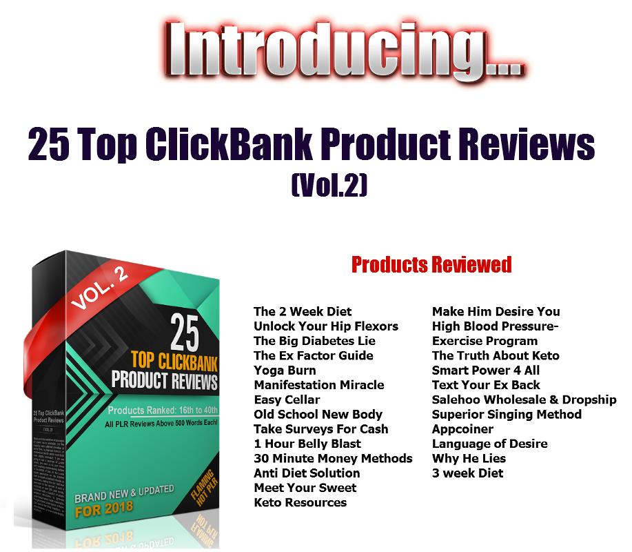 Top ClickBank Product Reviews 2018 UG1 – Flaming Hot PLR Deals