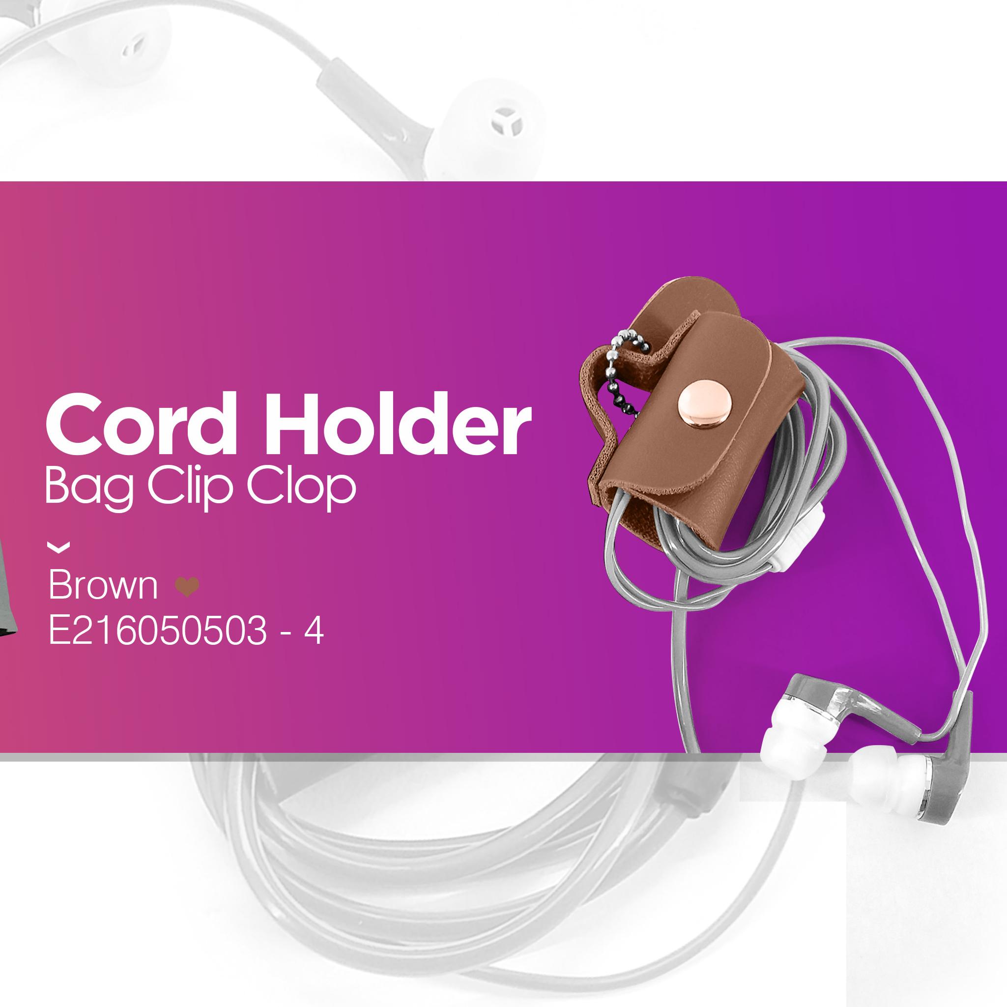 Cord Holder Bag Brown
