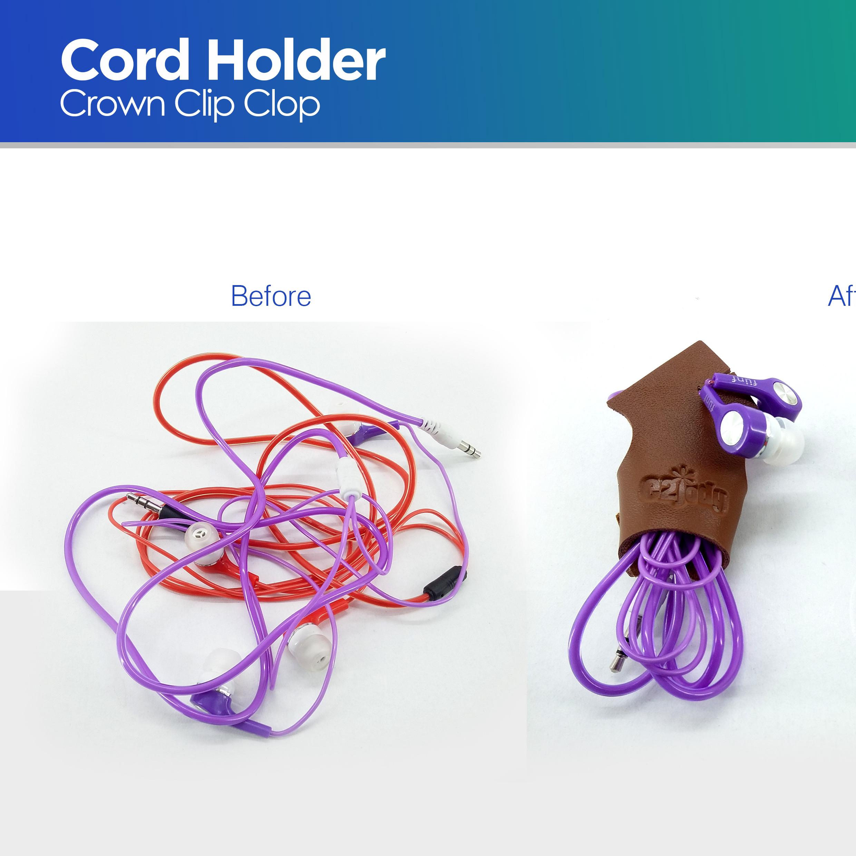 Cord Holder Crown Brown