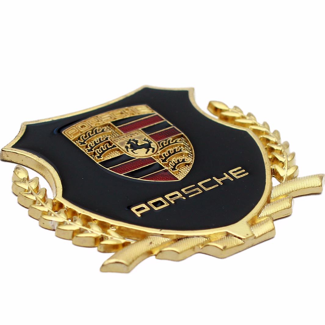 Emblem Samping Logo Porsche 2 Buah