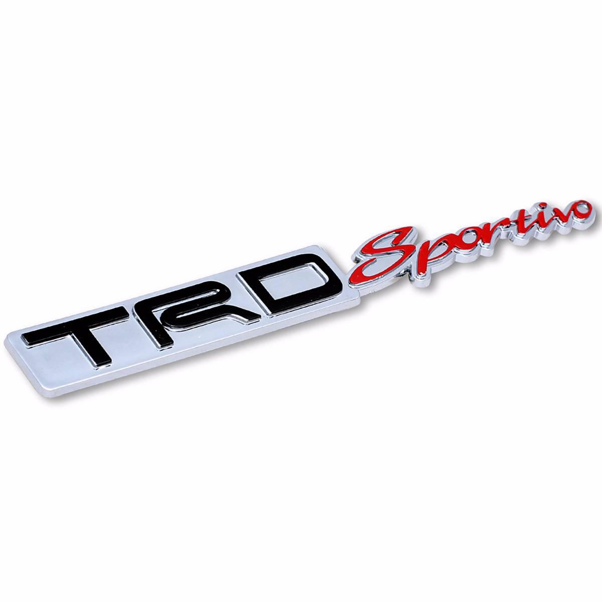 Emblem Logo Trd Sportivo - Embose Chrome