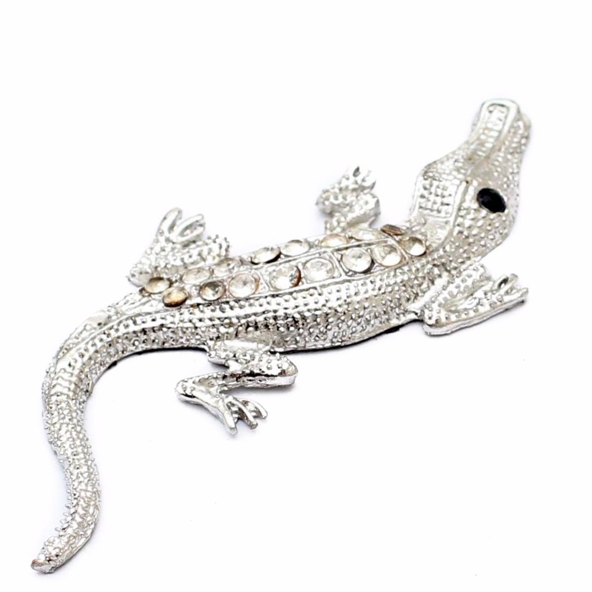 Emblem Variasi Crocodile - Chrome1