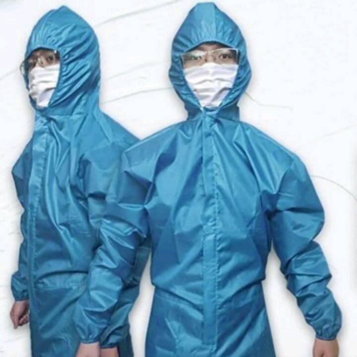Stok Baju APD Waterproof Tosca / Hazmatsuit Reusable Parachute / Coverall0