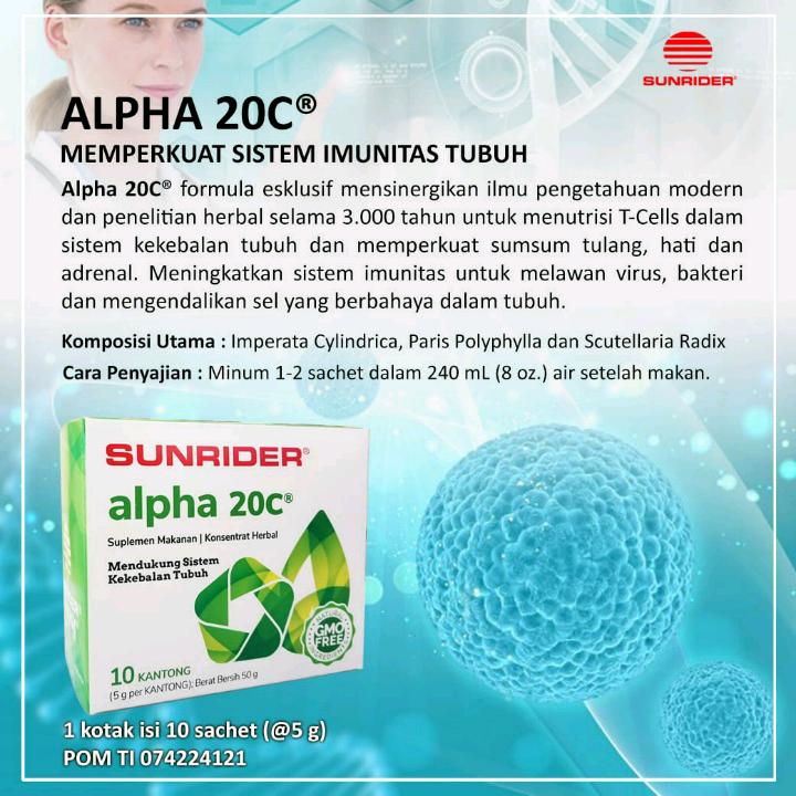 Sunrider Alpha20C powder 5g 10 pk