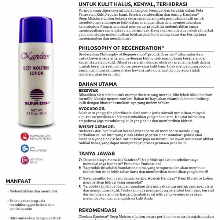 Sunrider Deep Moisture Lotion1