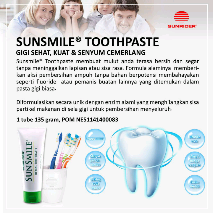 Sunrider Sunsmile  Herbal Toothpaste4