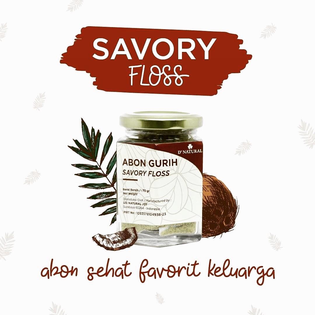 Savory Floss - Abon Vegan - Natural, Gurih, Bergizi Tinggi - Untuk Anak Dan Bumbu Masak Se...