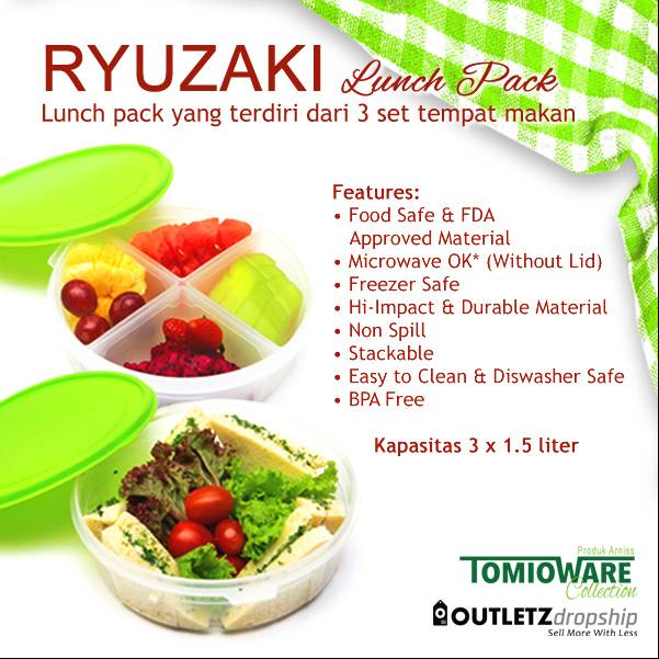 Ryuzaki Lunch Pack - 3 Set