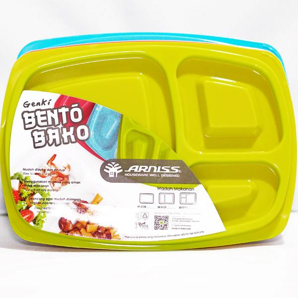 Lunch Box Kotak Sekat 3 (12 Set)
