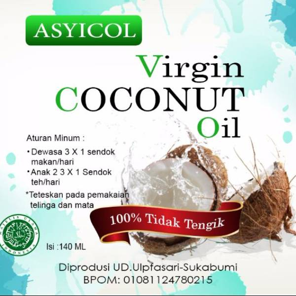 Virgin Coconut Oil ( Vco ) ( @140ml X 6 Botol / Pack )