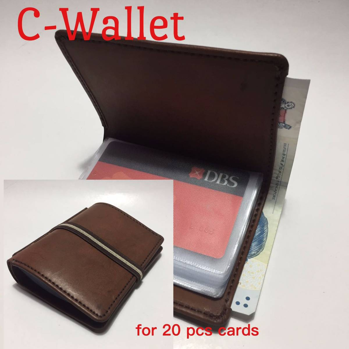 C-wallet Dark/light Brown ( Dompet Credit Card )