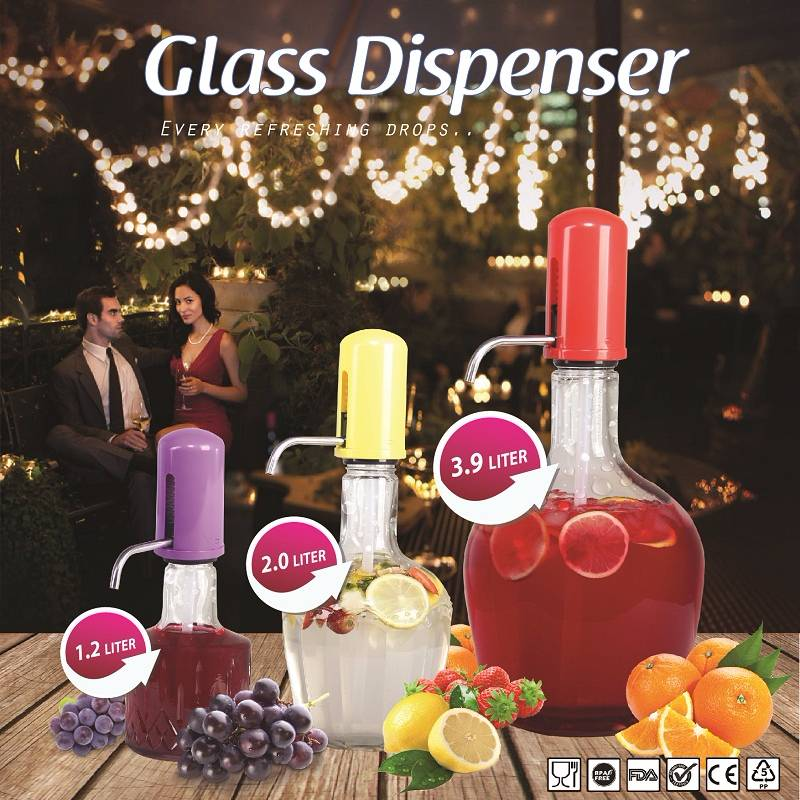 Asta Homeware Handpump Glass Dispenser / Dispenser Kaca 3.9 L1