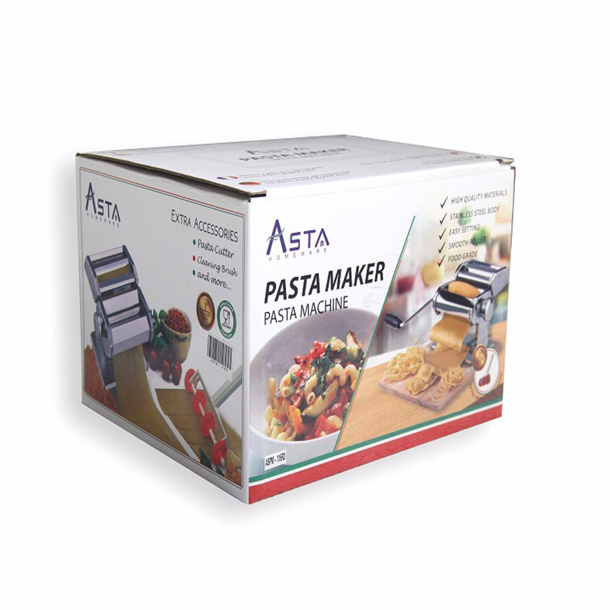 Asta Homeware Gilingan Mie / Pasta Maker ( Red , Orange & Silver/stainless Steel )4