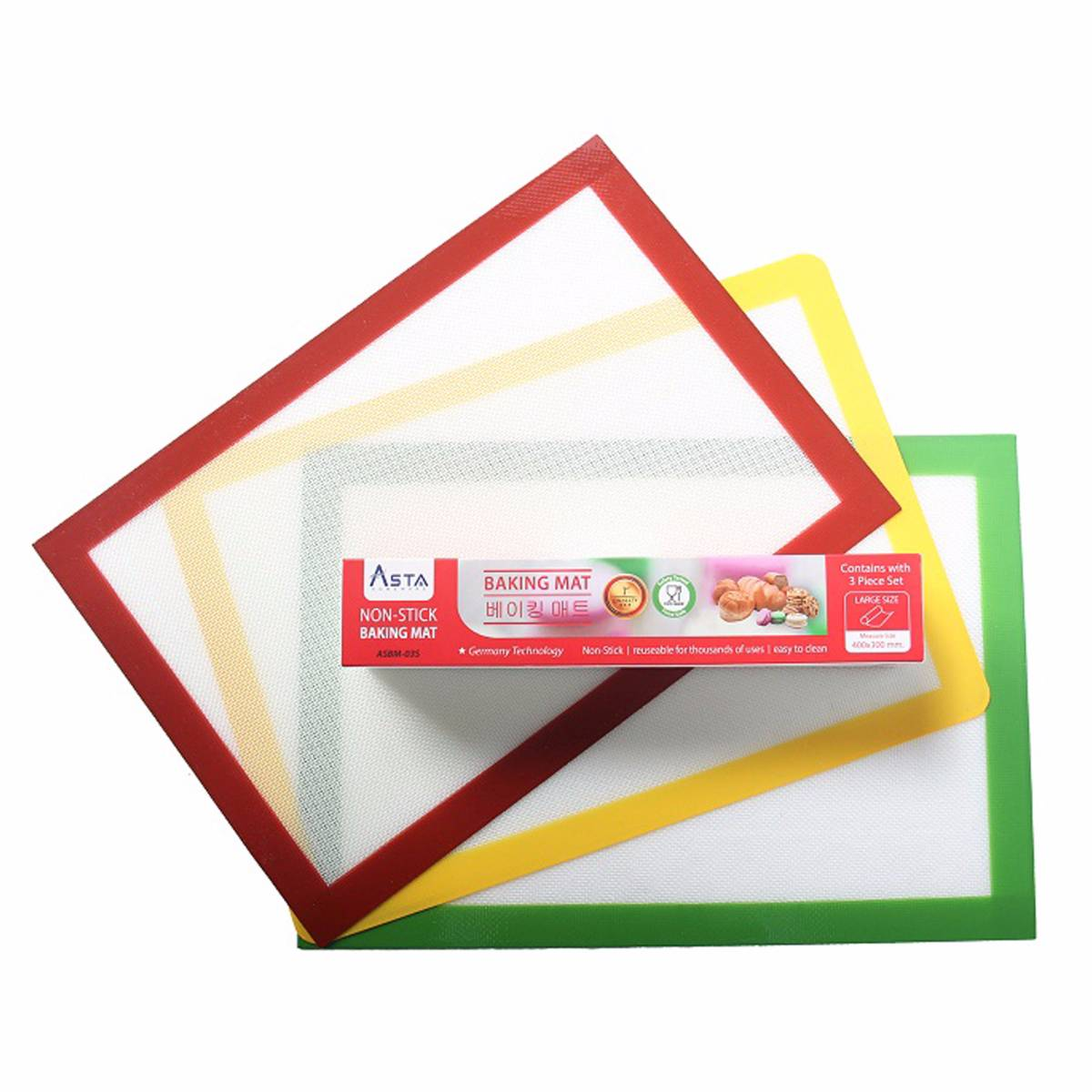 Asta Homeware Baking Mat / Silpat / Silmat / Silicone Non-stick ( 3 Pcs In 1 Box )3