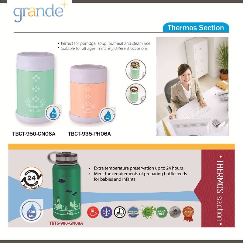 Grande Food Container Peach 350 Ml4