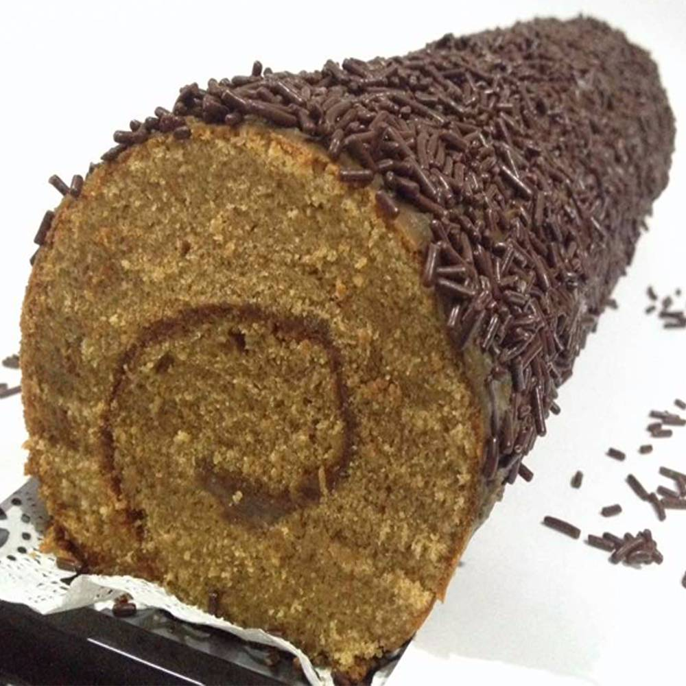 Mocca Meses Roll Cake