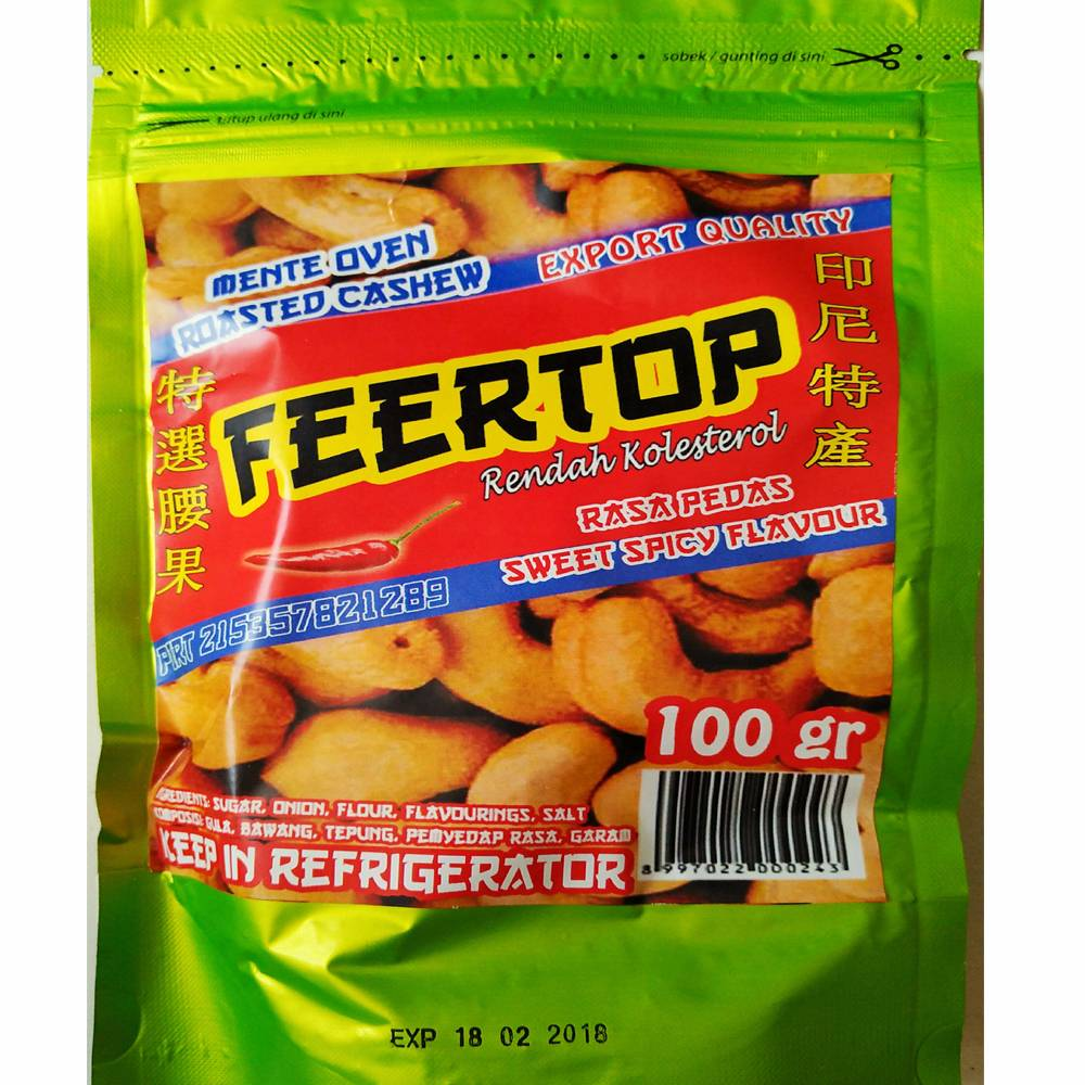 Kacang Mede Nenek Pedas Kwalitas Export (retail)