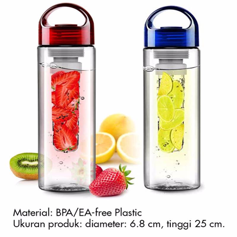 Botol Tritan Blue / Red