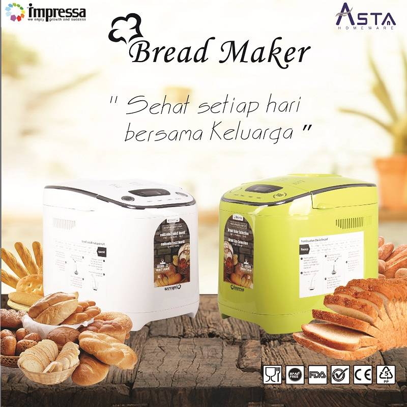 Bread Maker Pembuat Roti Impressa Green/white