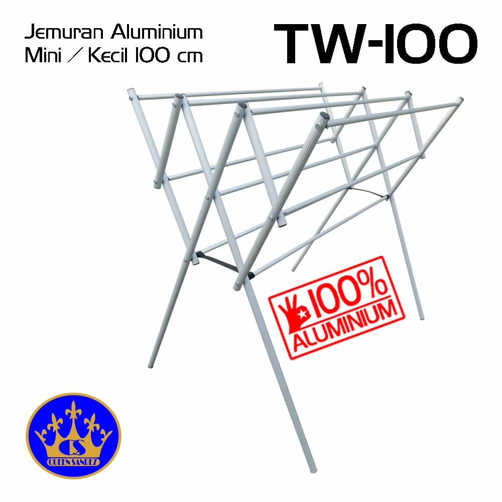 Jemuran Baju Aluminium Mini 100 Cm
