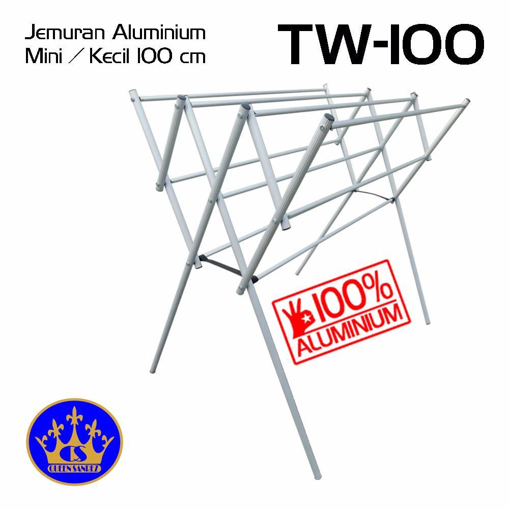Jemuran Baju Aluminium Mini 100 Cm0