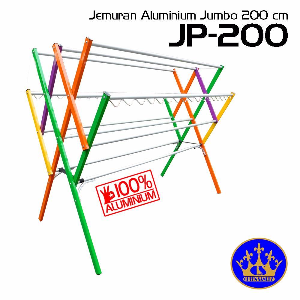 Jemuran Baju Aluminium Jumbo 200 Cm (12 Palang)