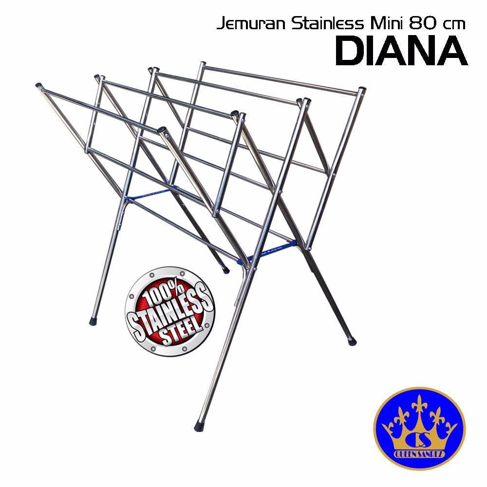 Jemuran Baju Stainless Mini 80 Cm ( Diana )