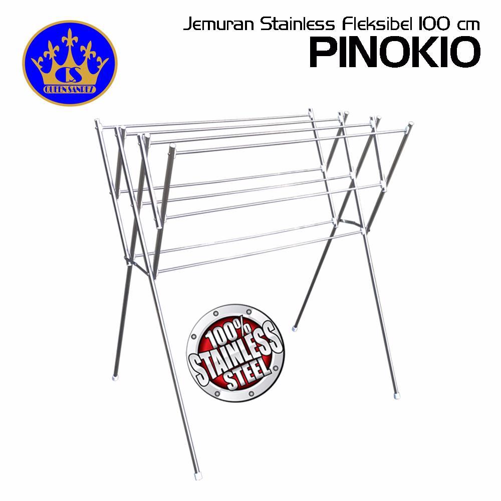 Jemuran Baju Stainless Fleksibel 100 Cm ( Pinokio )