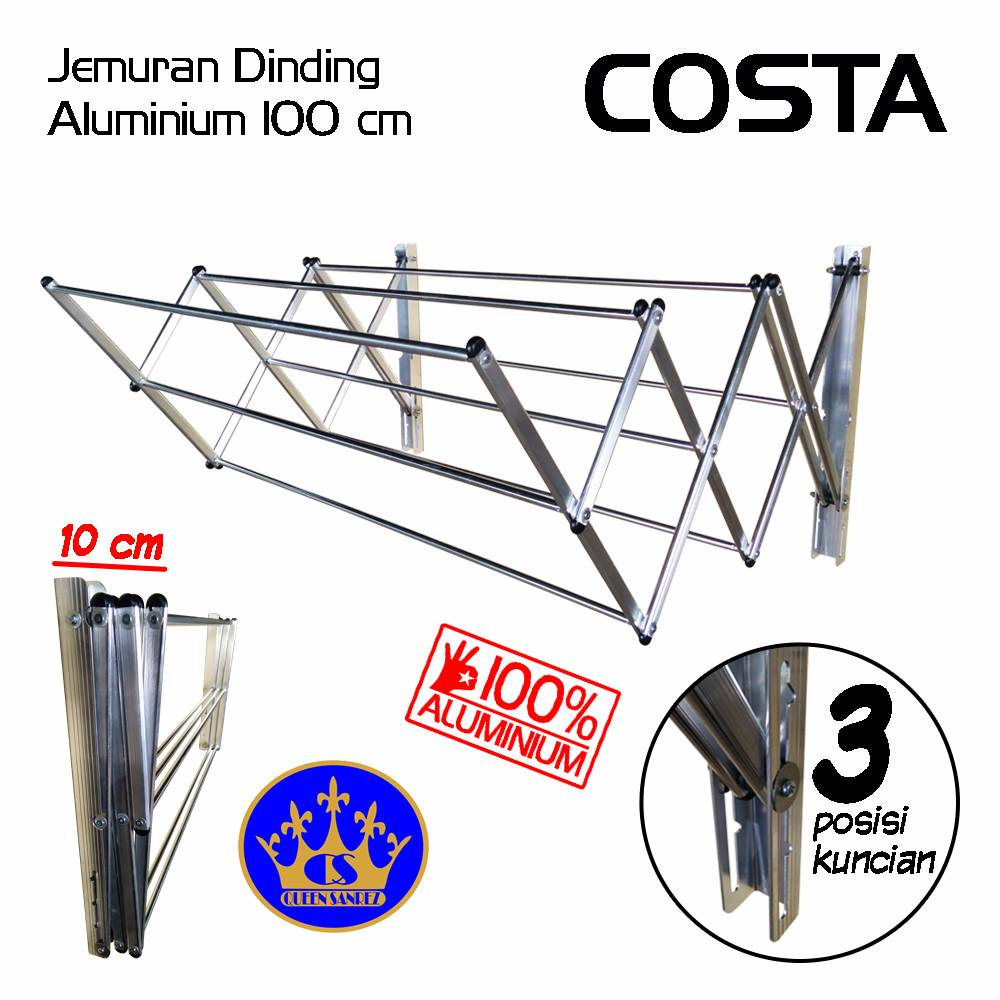 Jemuran Dinding Aluminium 100 Cm (costa)
