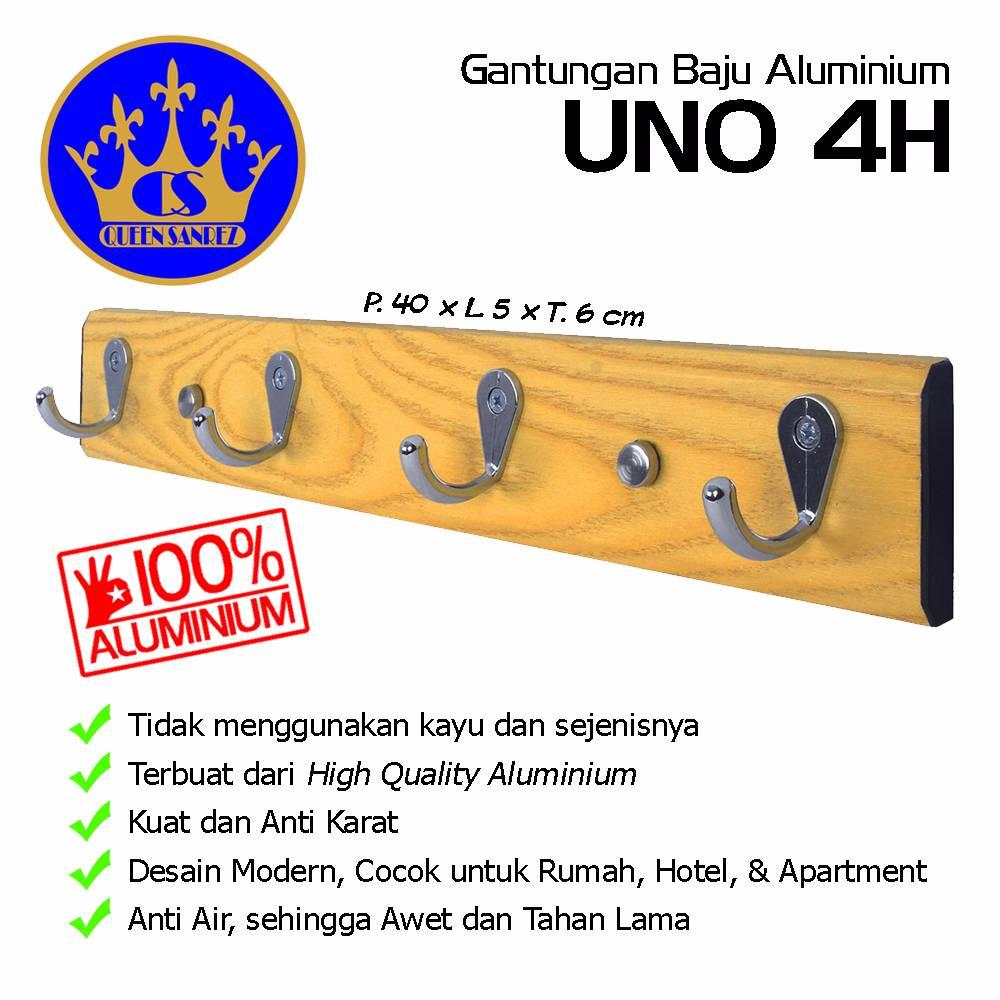 Gantungan Baju Aluminium Uno 4h