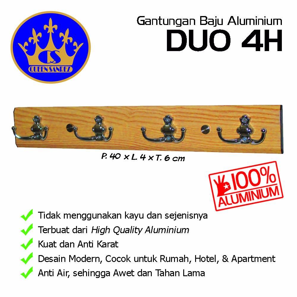 Gantungan Baju Aluminium Duo 4h