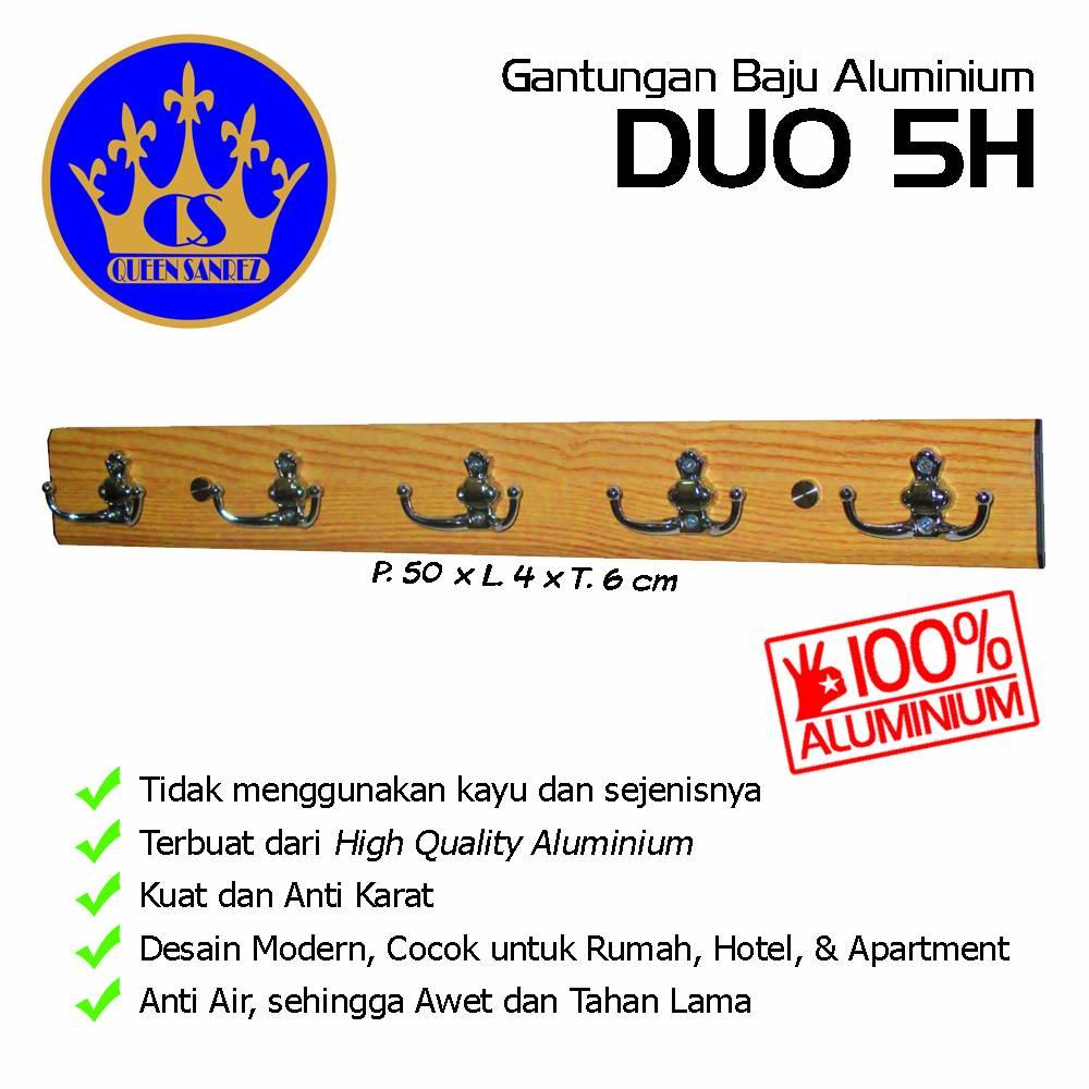 Gantungan Baju Aluminium Duo 5h