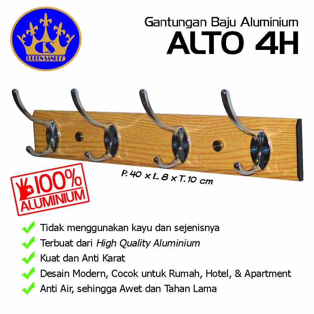 Gantungan Baju Aluminium Alto 4h