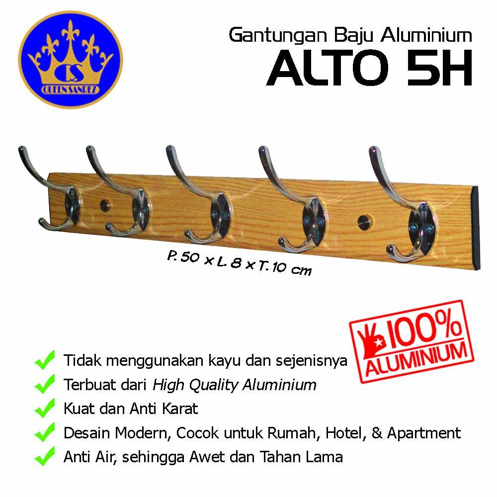 Gantungan Baju Aluminium Alto 5h