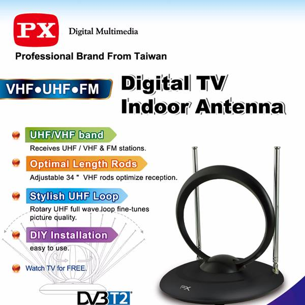 Digital Tv Indoor Antenna Ia200n