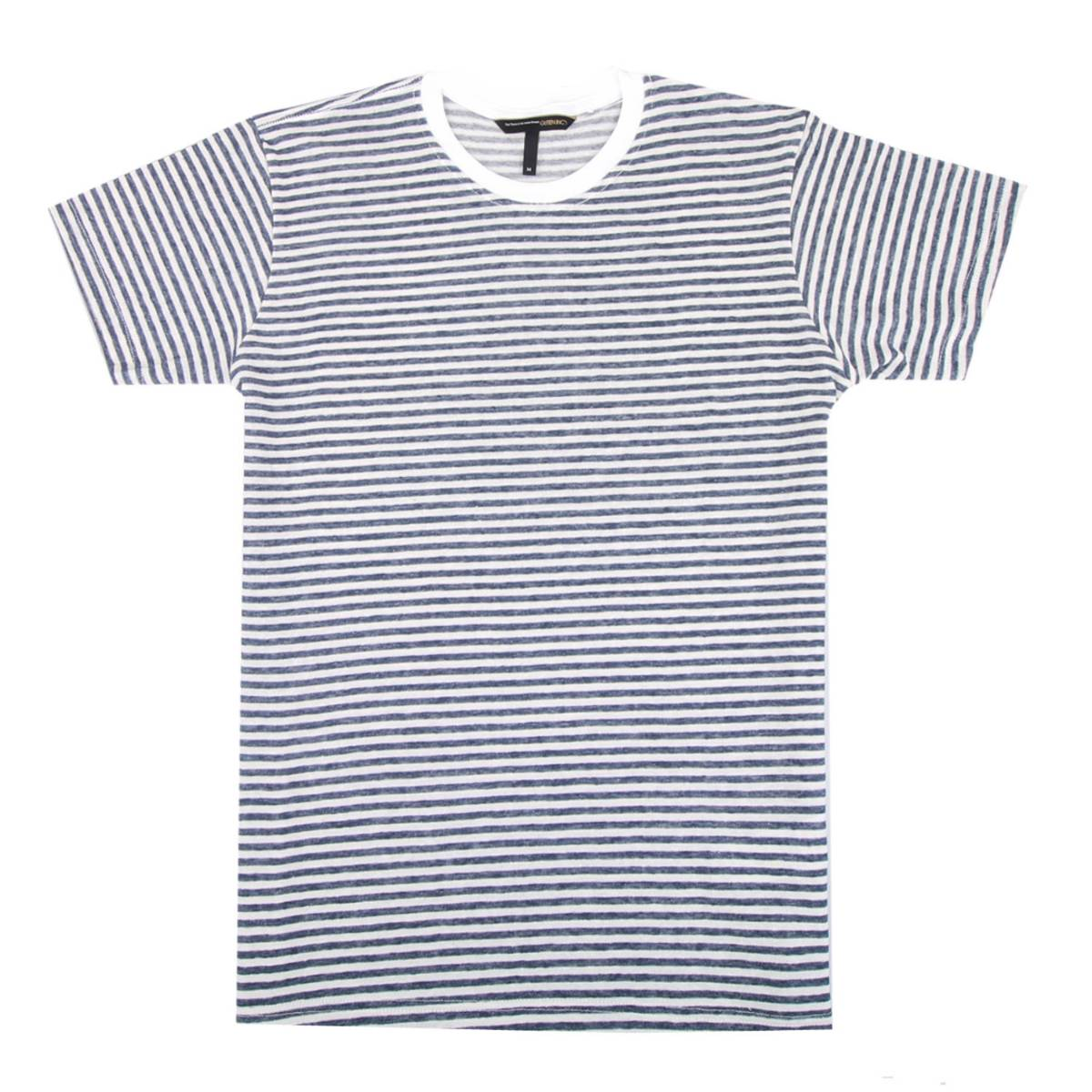 Kaos / Chester White Dark Blue Stripe