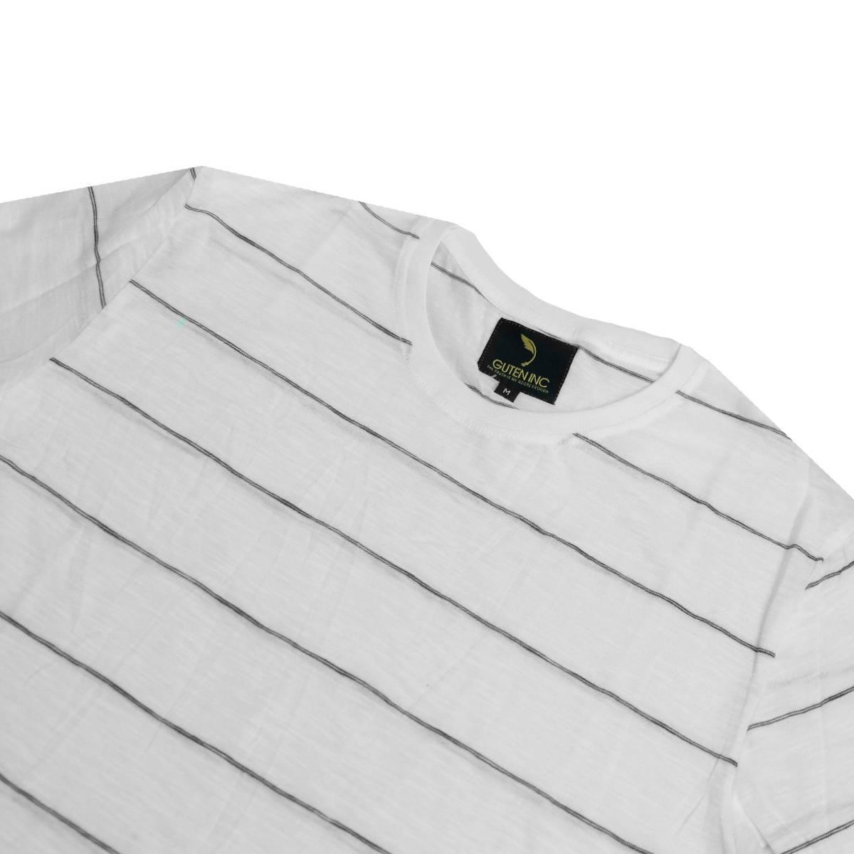 Kaos Lengan Panjang Chester White Thin Stripe Ls Sentral Online Polos Big Black Ls3