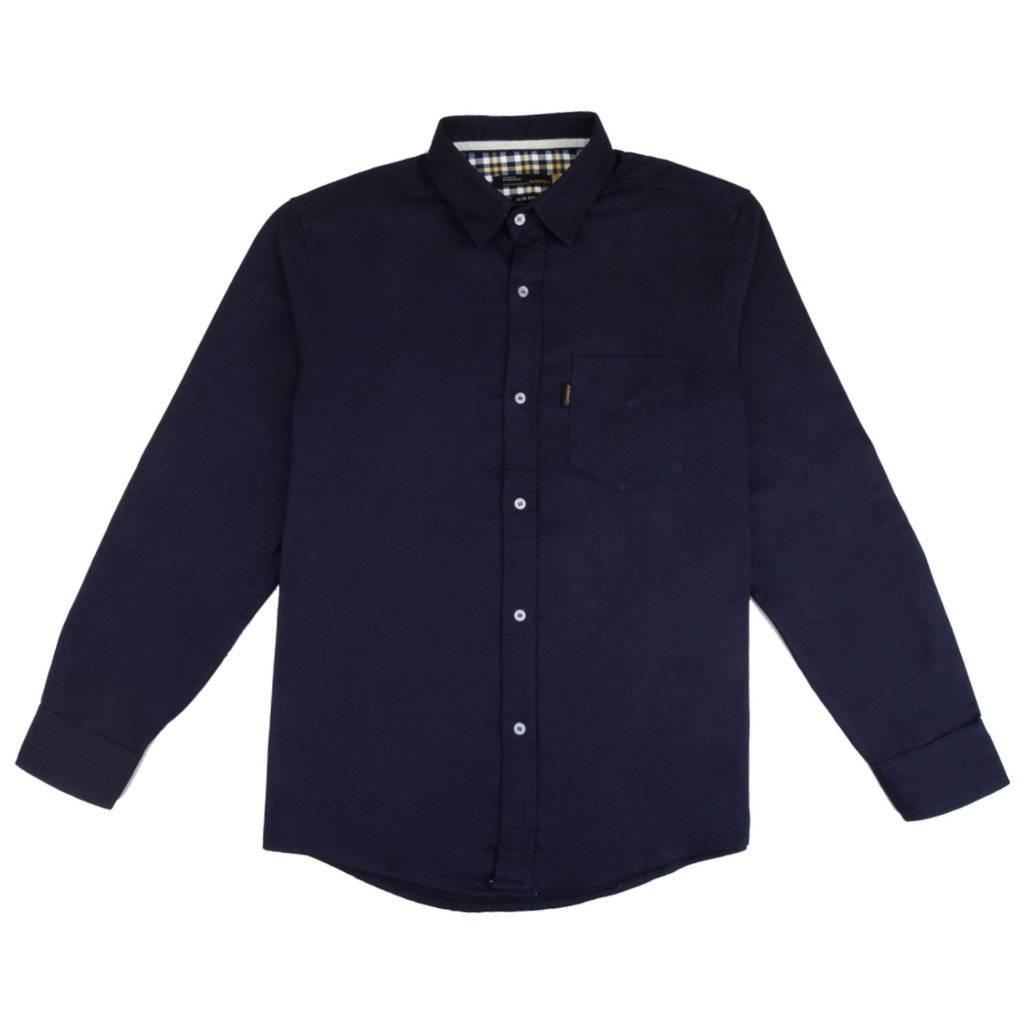 Kemeja Lengan Panjang / Tobias Navy Shirt