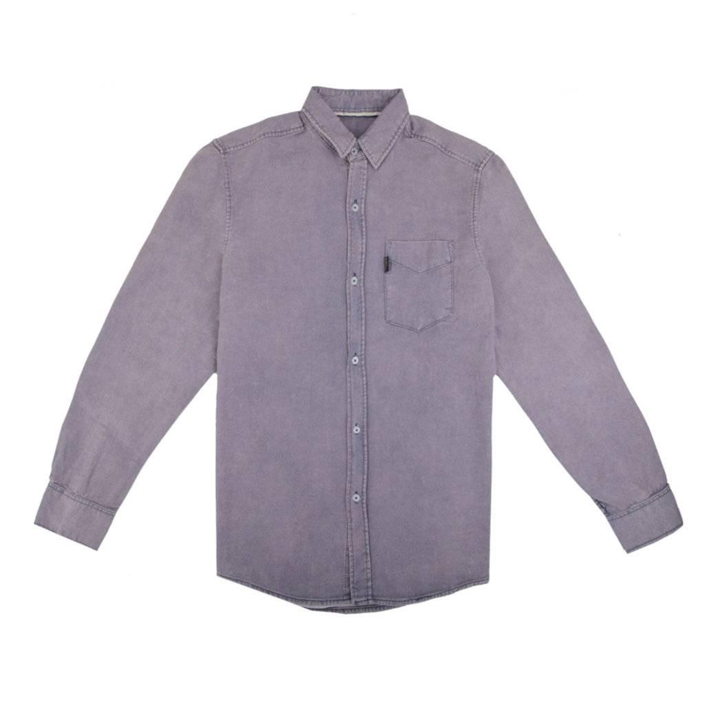 Kemeja Lengan Panjang Hyden Stone Washed Denim Shirt Sentral Batik Slimfit B 185 Shirt0