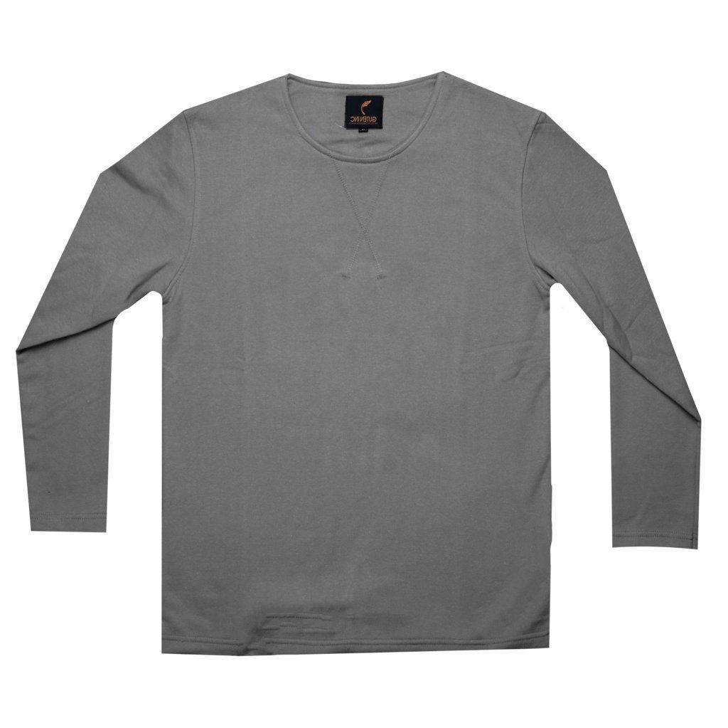 Kaos Lengan Panjang / Vincent Dark Grey