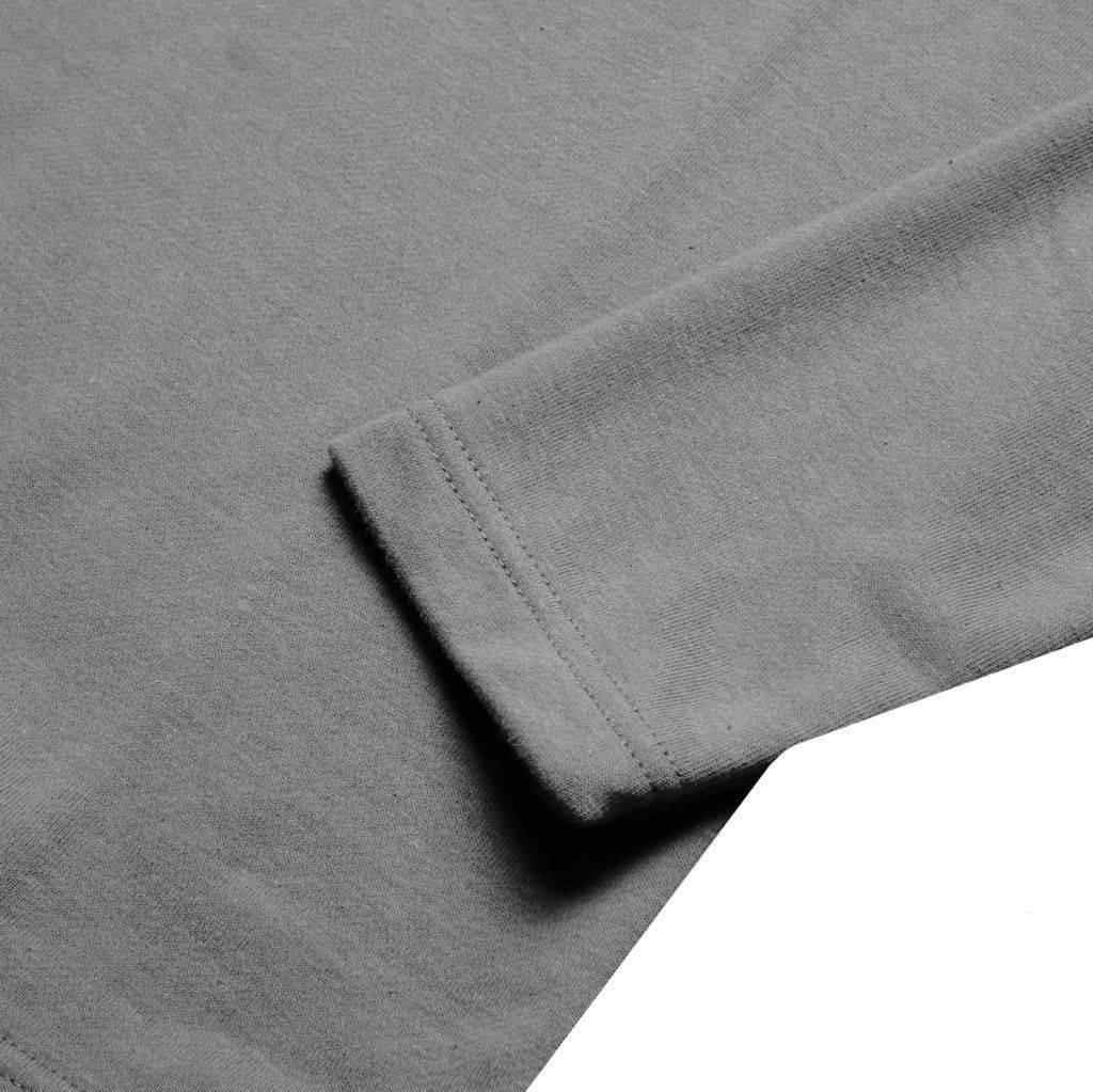 Kaos Lengan Panjang Vincent Dark Grey Sentral Online Terpercaya Polos Orange Triton Grey2