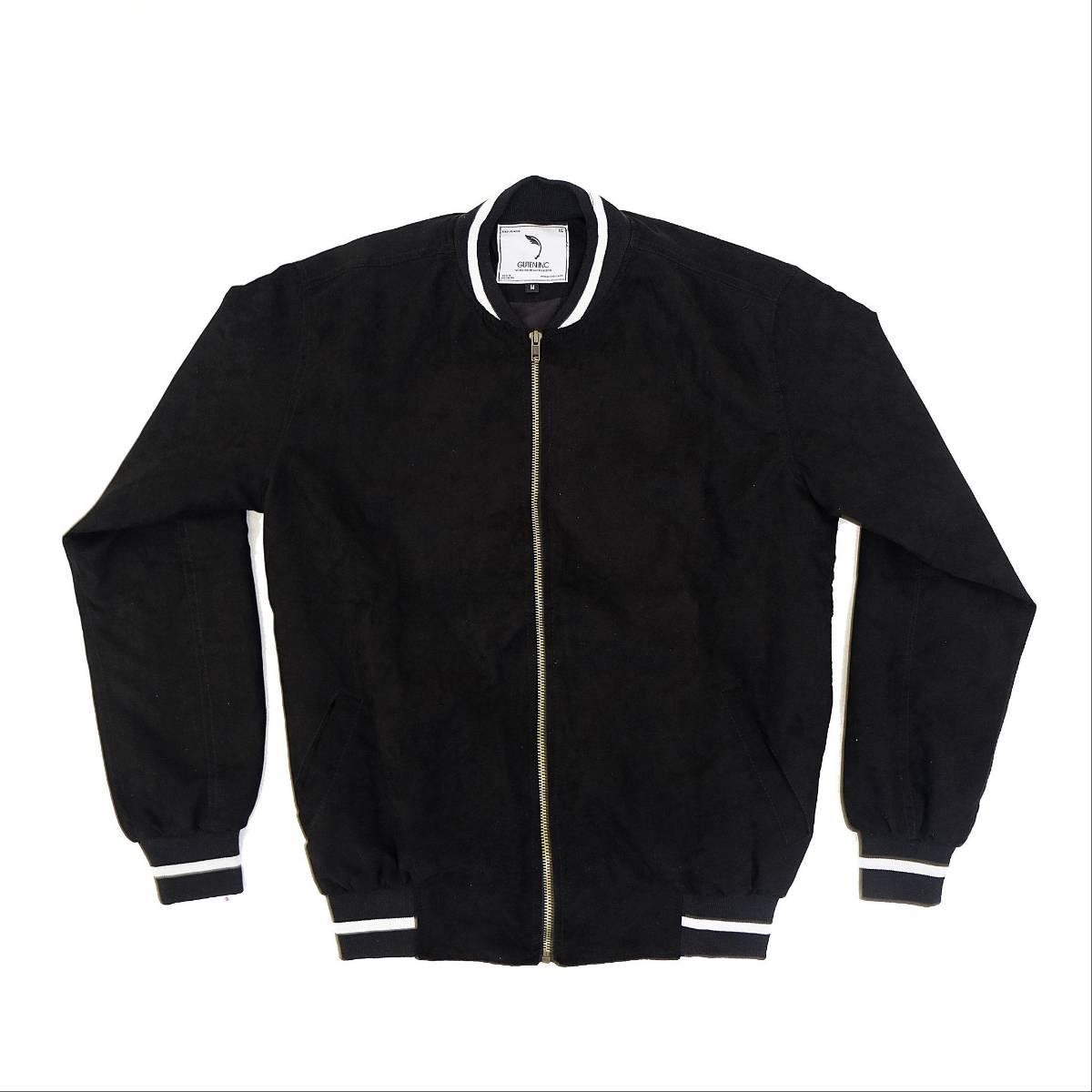 Jaket / Seth Suede Bomber Jacket Black