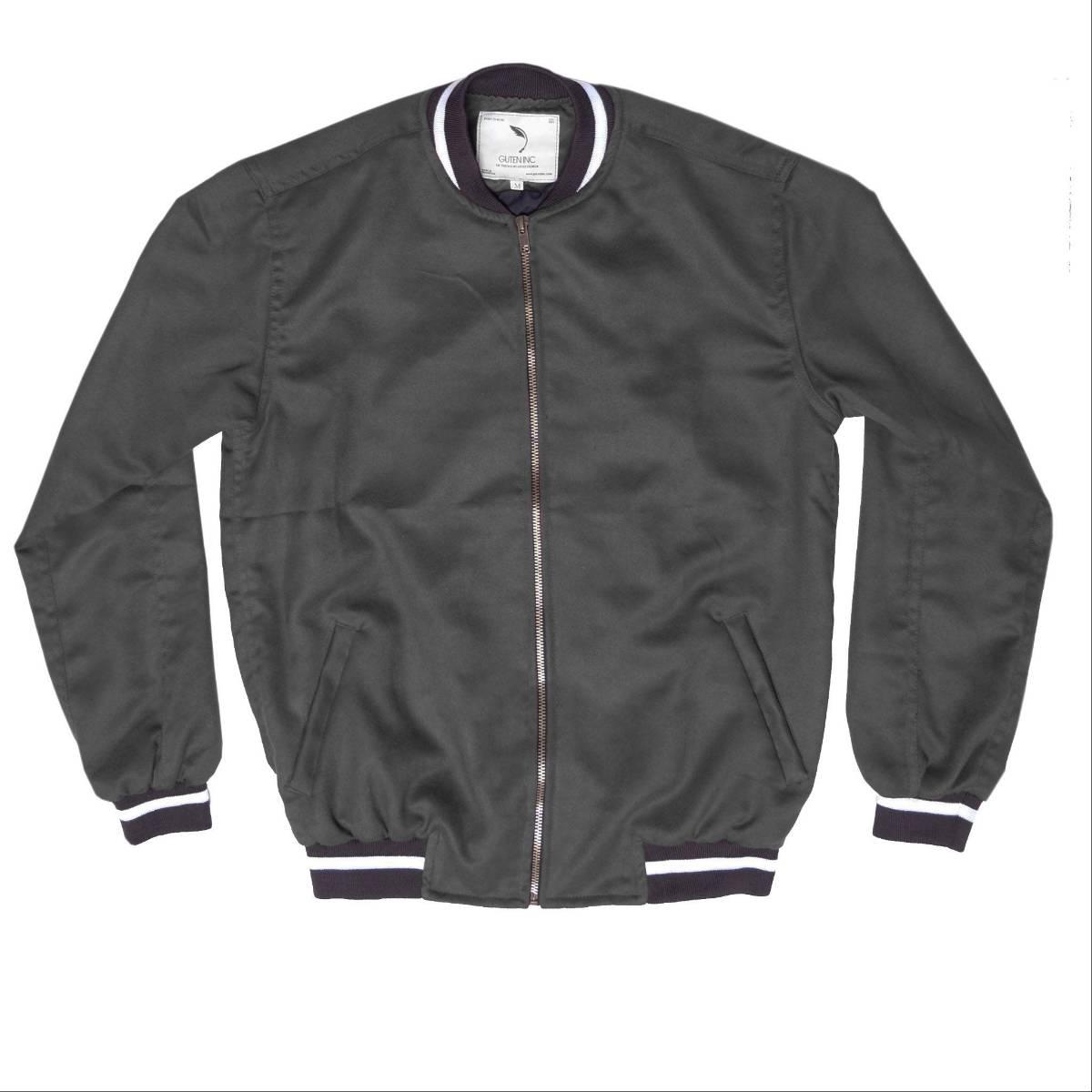 Jaket / Seth Suede Bomber Jacket Dark Grey