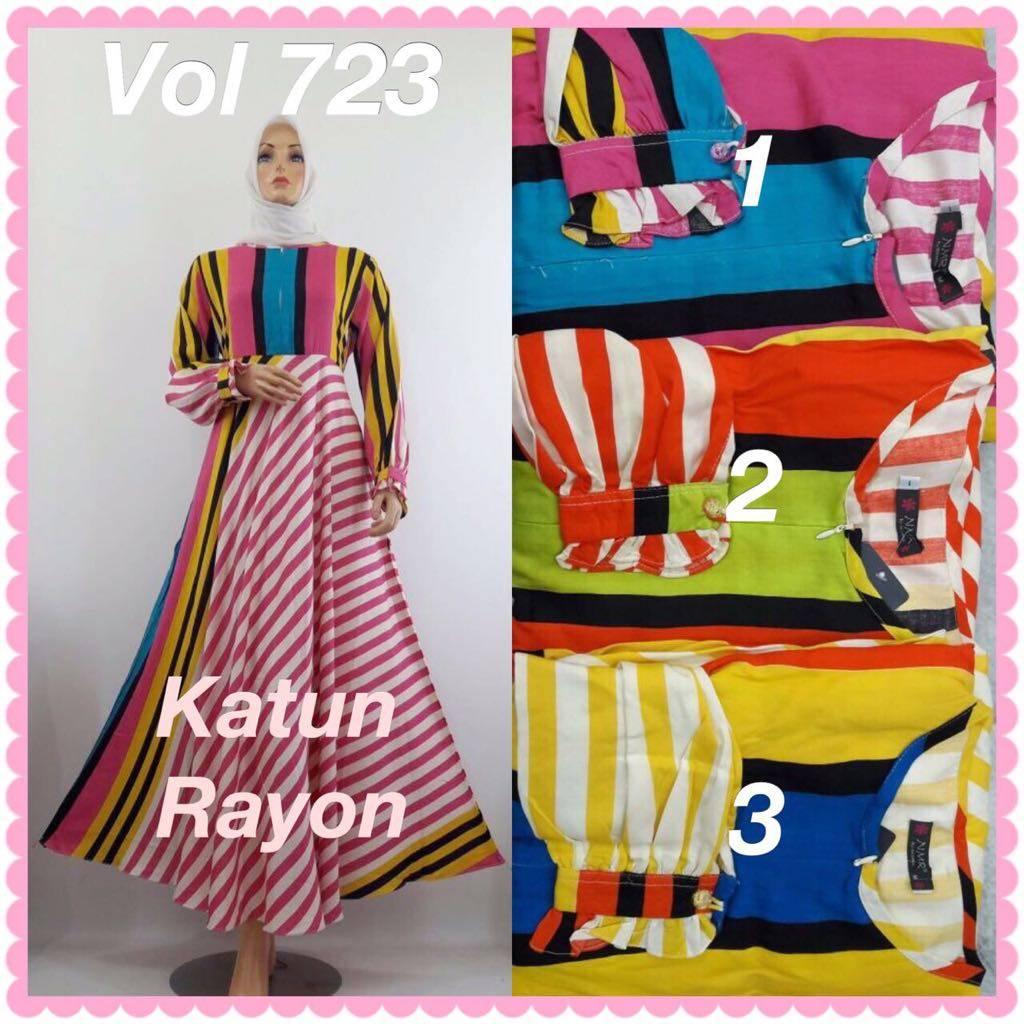 Gamis Katun Rayon - Vol 723