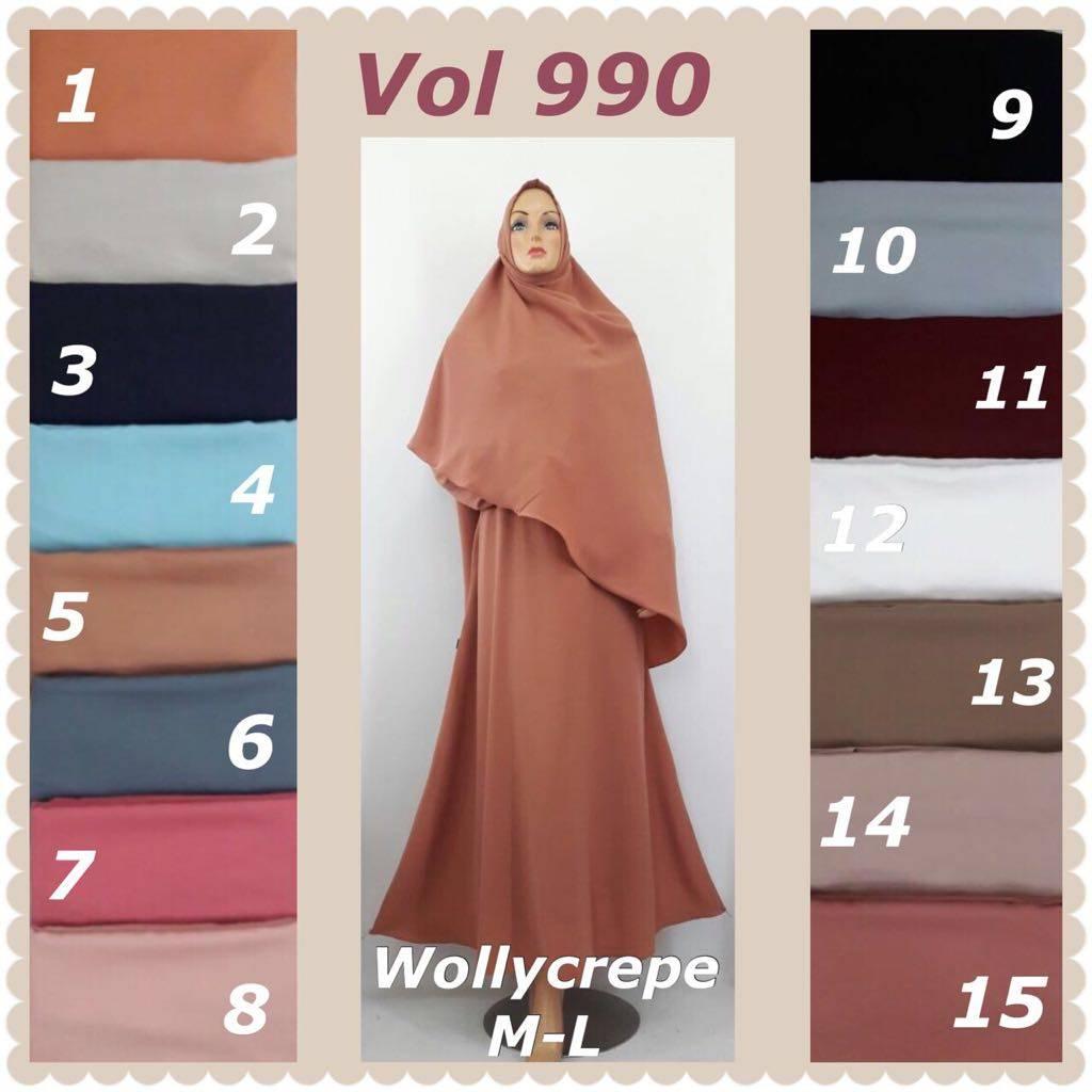 Gamis Sunah Wollycrepe1